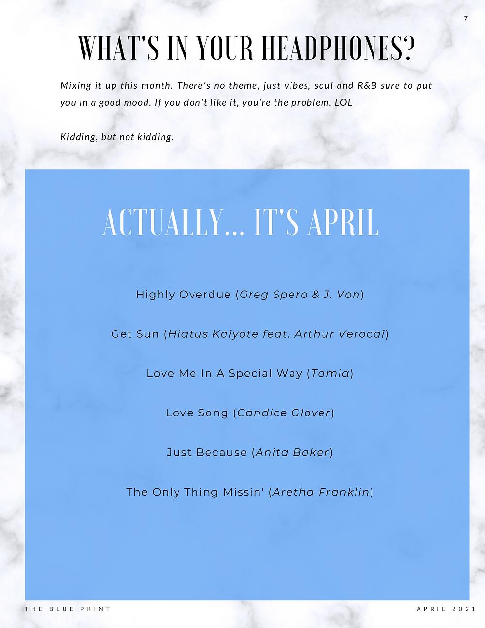 The Blue Print | April 2021 | Actually April Playlist