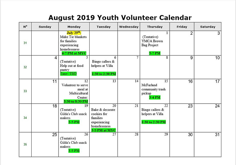 Youth Volunteer Calendar (August 2019).J
