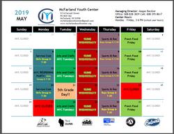 Programming Calendar May