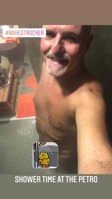 Shower Time @ the truck stop