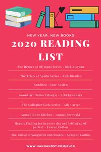2020 reading list infographic