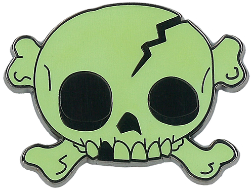 roger | creepy eepz™ glow-in-the-dark enamel pin