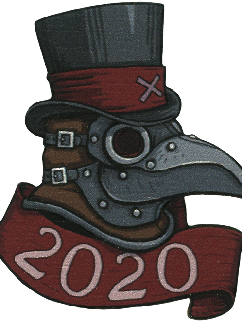 doctor p | creepy eepz™ wood pin