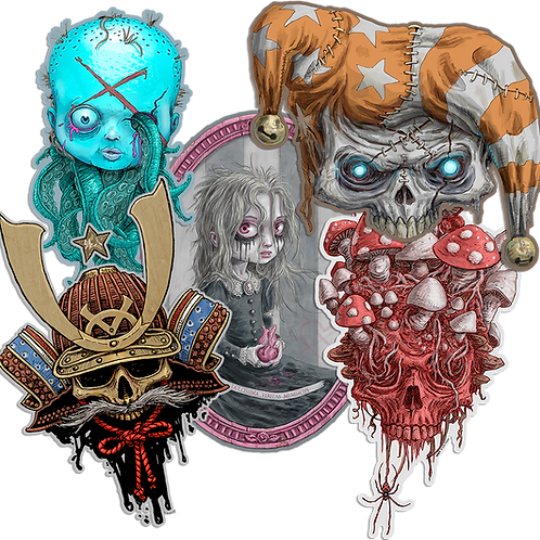 "creepy 4"" vinyl sticker 5-pack"