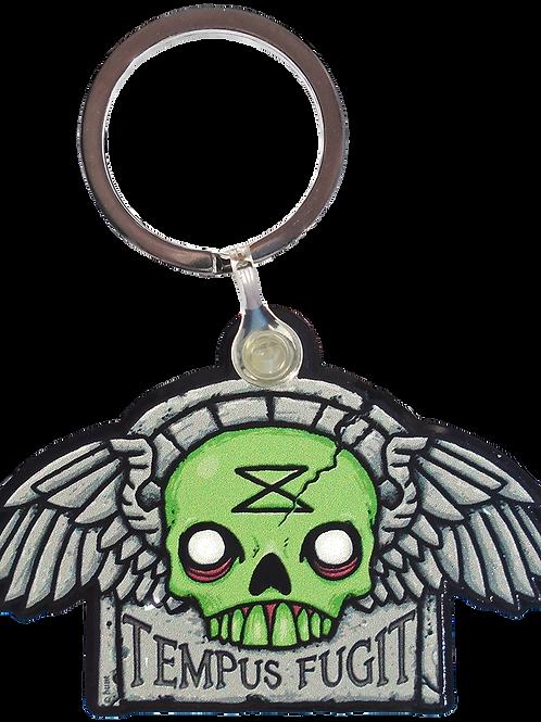 tempus fugit   creepy eepz™ acrylic keyring