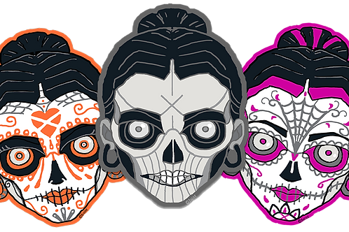 "3-pack | shuga skulz ™ (3"" vinyl stickers)"