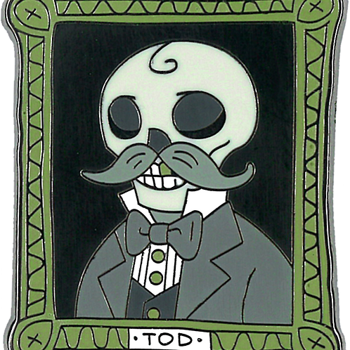 uncle tod | creepy eepz™ glow-in-the-dark enamel pin