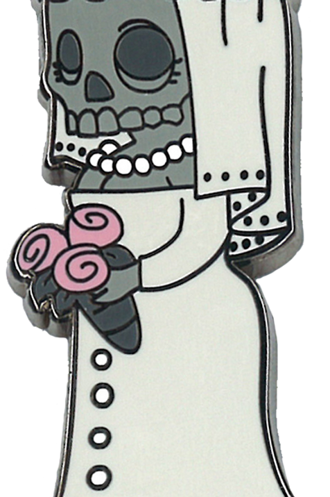 bride | creepy eepz™ enamel pin
