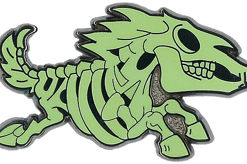 khloros | creepy eepz™ glow-in-the-dark enamel pin