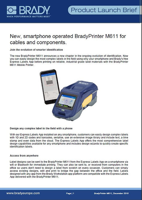 M611_ProductLaunchBrief