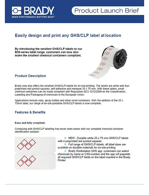 B30_GHS_CLP_Label_ProductLaunchBrief