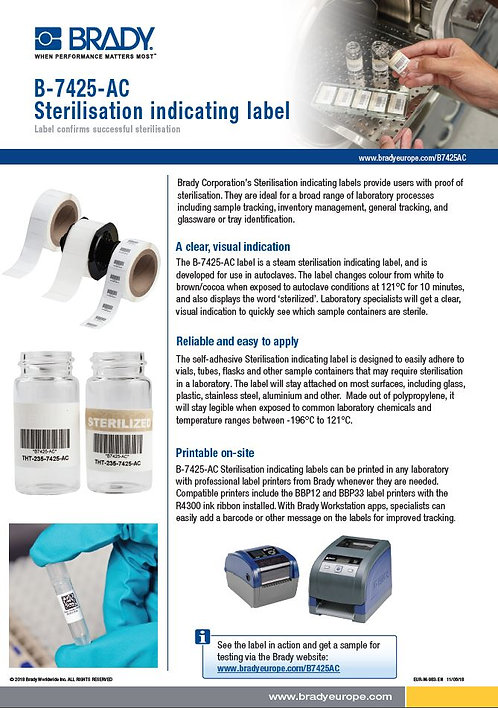 B-7425_SterilisationIndicatingLabel_Sellsheet
