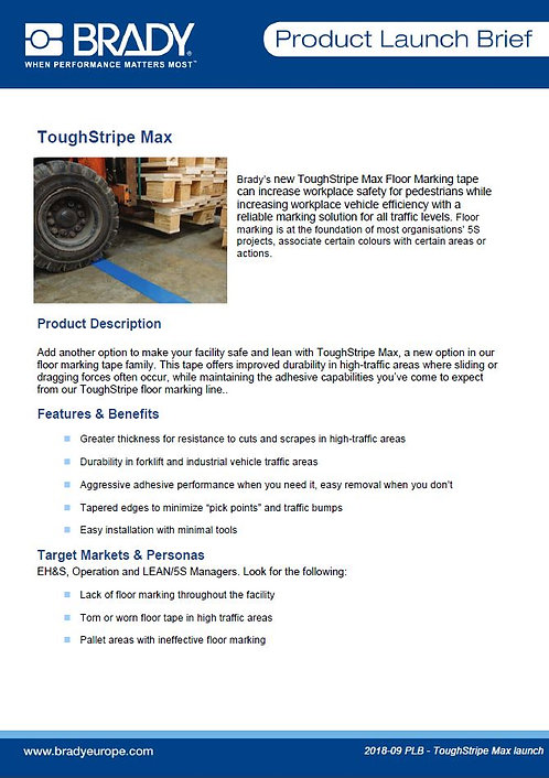 ToughStripeMax_ProductLaunchBrief