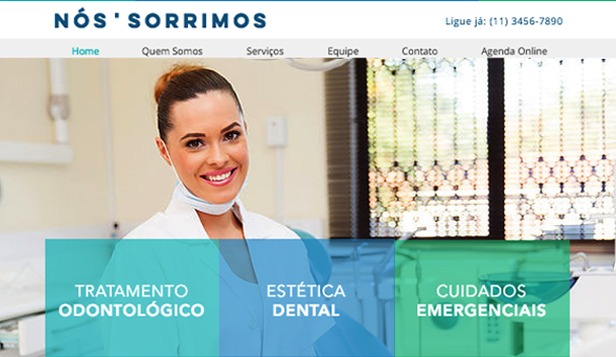 Saúde website templates – Dentista