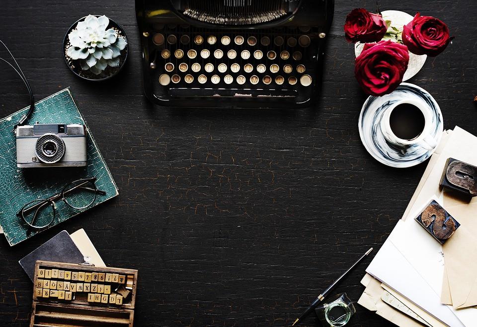 MFA blog typewriter