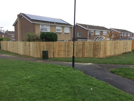 More top quality fencing work from Gateshead Pro Fencing
