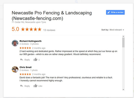 5 star fencing reviews from our happy customers!