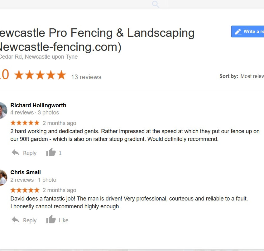 reviews google newcastle fencing