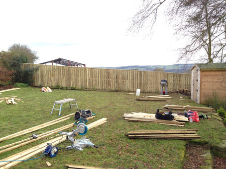 50 Meters of Space Boarded 6ft Fencing Completed with Capping