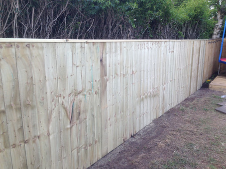 Another satisfied customer happy with our garden fencing services in Newcastle and Gateshead