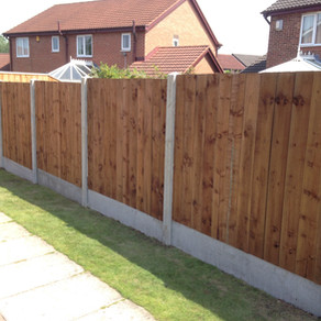 Concrete posts and gravel boards