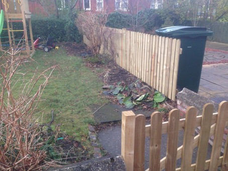 Recent fencing work - lolly pop style fence boards