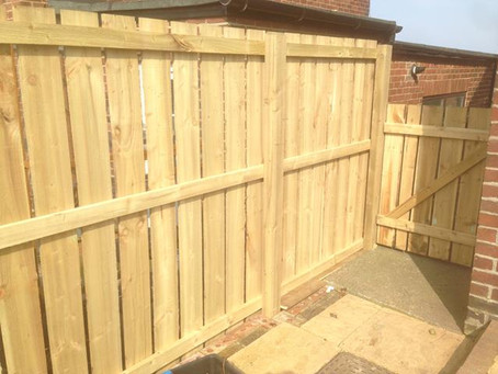 More top quality garden fencing work