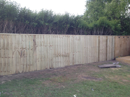 Another example of our quality garden fencing work in Gateshead