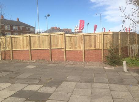 Commercial fencing work undertaken
