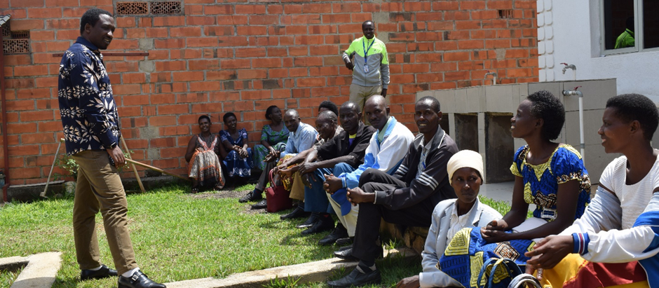 The very first parent's gathering in Rwanda!