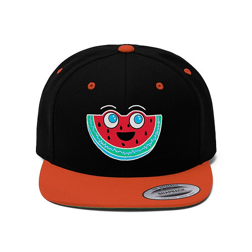 Smiley Melon - Flat Bill Hat