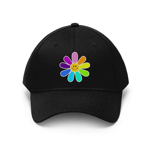 RAINBOW FLOWER - BLACK HAT