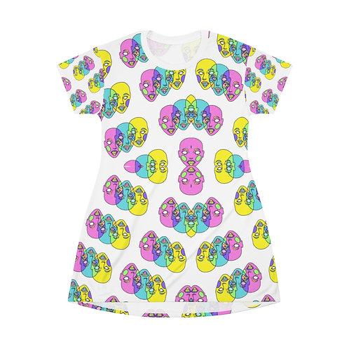 LETZ TRIP - AOP T-shirt dress