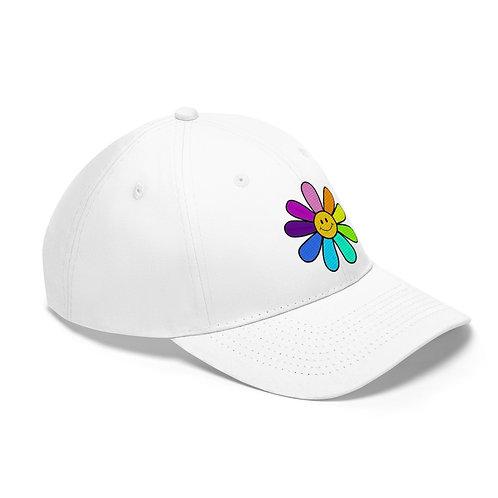 RAINBOW FLOWER - WHITE HAT