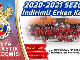 2020-2021 Sezonu %20 İndirimli Erken Kayıt Fırsatı