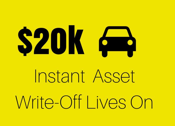 $20k Instant Asset Write-Off Lives On