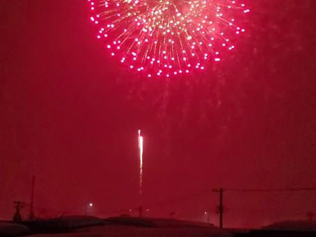 2月7日 西部地区 花火