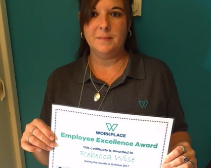 Thank you! - Employee Excellence Award October 2017