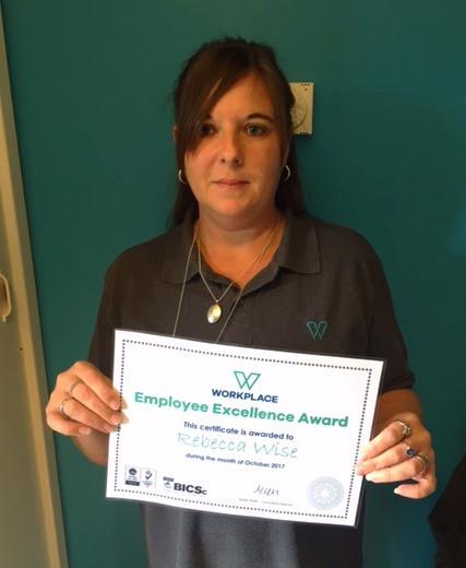 Employee Excellence Award - October 2017