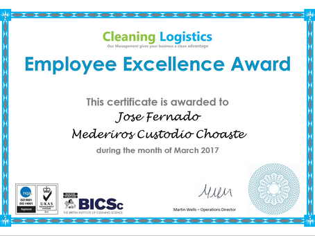 Thank you! - Employee Excellence Award March 2017