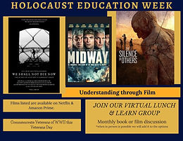 Holocaust Education Week Nov 9-13 2020