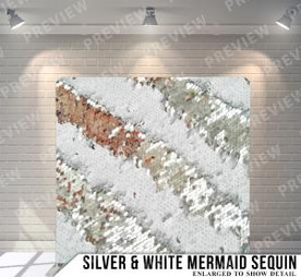 Silver White Mermaid Sequin