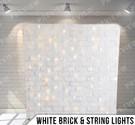 White Brick + String Lights