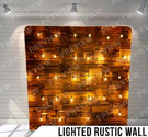 Lighted Rustic Wall