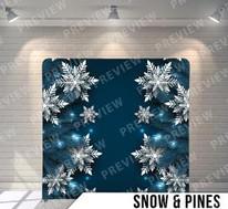 Snow + Pines Backdrop