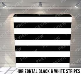 Horizontal Black + White Stripes