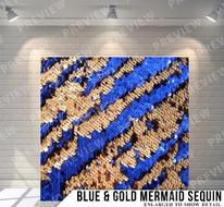Blue + Gold Mermaid Sequin