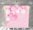 Pink Balloons + Confetti