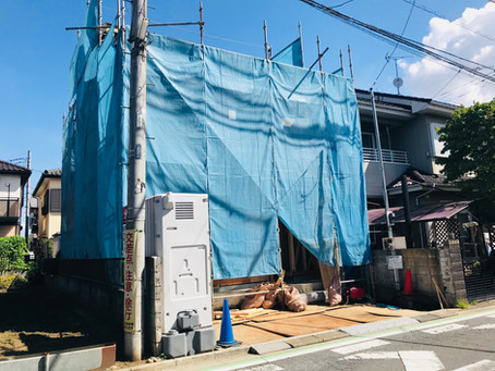 上新井4丁目新築戸建 上棟完了