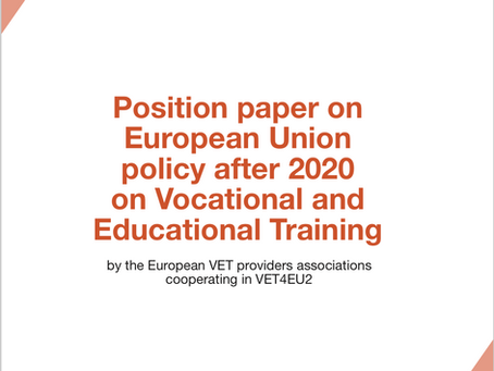 Position paper on European Union policy after 2020 on Vocational and Educational Training